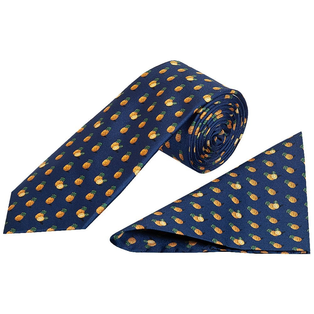 060168d5a219 Barkley Pineapple Classic Men's Tie and Pocket Square Set