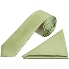 Handmade Plain Emerald Green Satin Skinny Men/'s Tie and Pocket Square Set