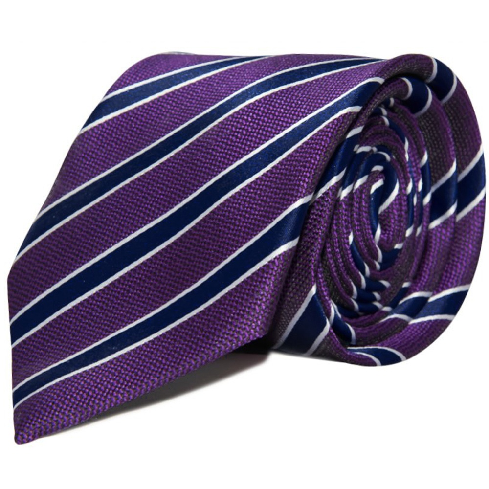 707521ce9dae Mens Navy and purple Striped Classic Tie | Mens Tie | Wedding Tie