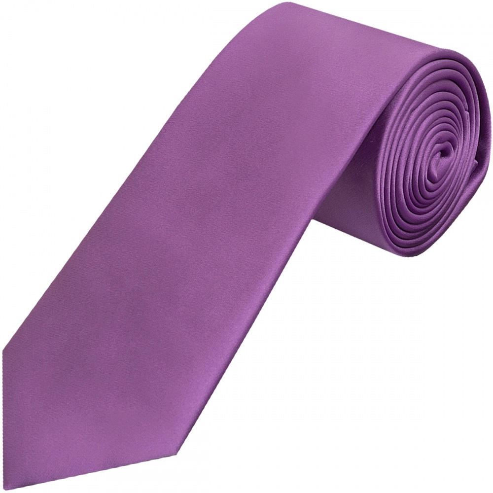 1498b6aa88ff Cadbury Purple Classic Satin Tie | Mens Satin Tie|Wedding Tie Prom Tie
