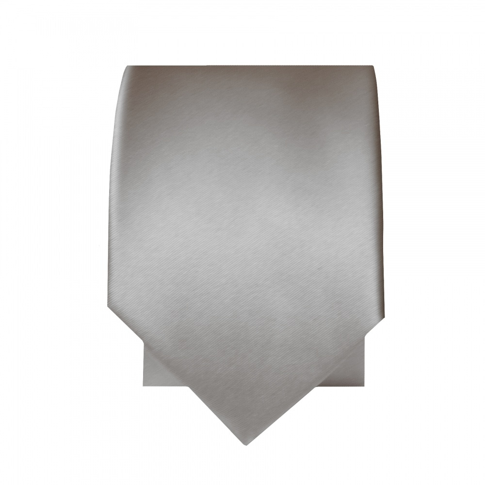 b6fe39ba1c4e Silver Satin Tie and Handkerchief Set | Skinny Tie Handkerchief set