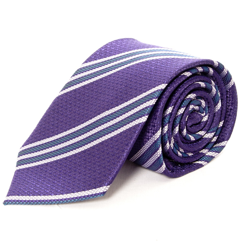 13388cdc1f70 Purple and Grey Striped Classic Tie | Mens Striped Tie | Regular Tie