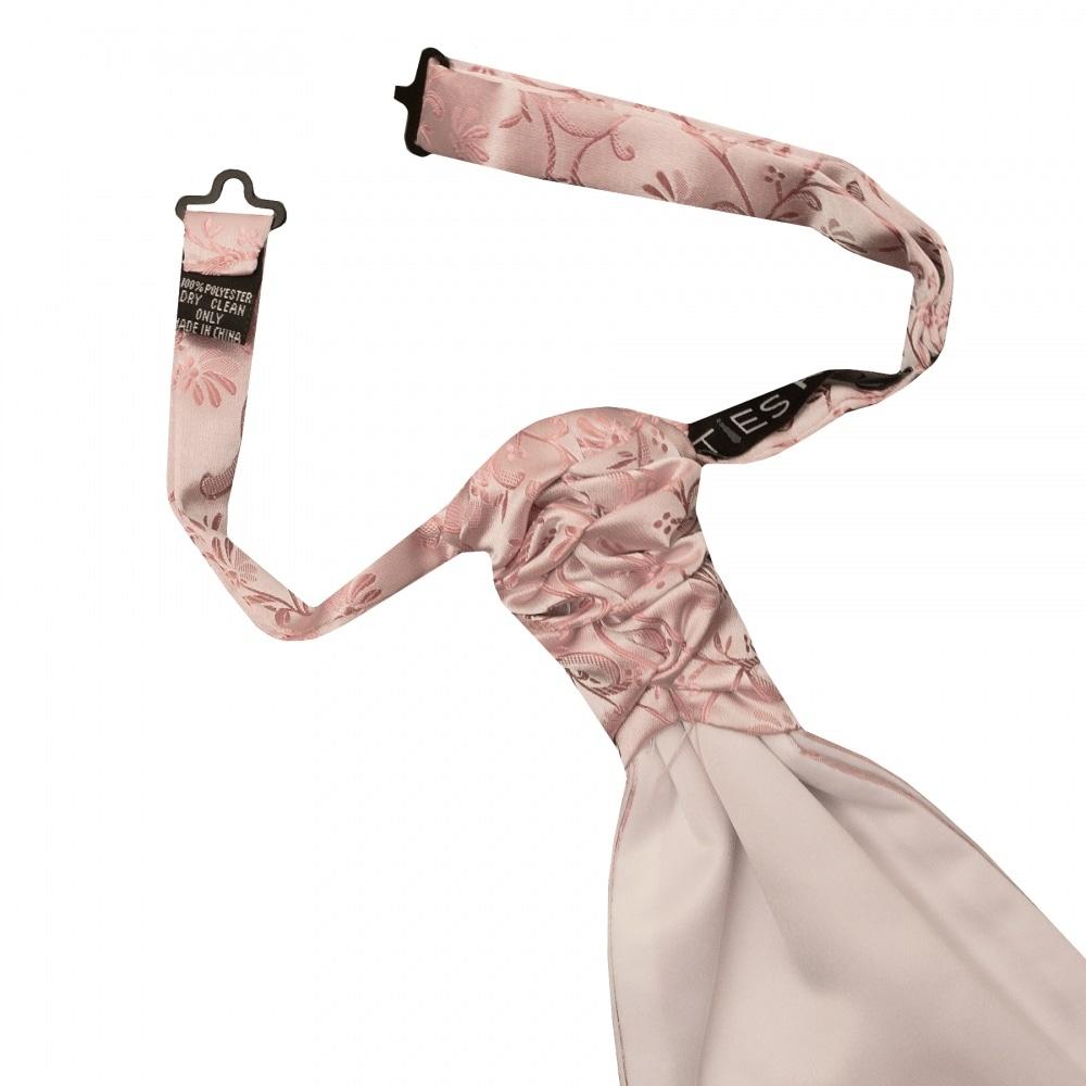 TIES R US Rose Gold Floral Men/'s Cravat Tie Wedding Cravat Tie Pink Cravat Tie